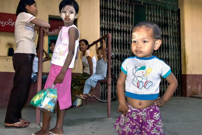 Boy Shows His Navel (Myanmar)