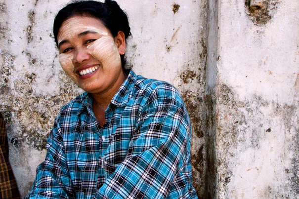 Bashful Smile With Thanaka (Myanmar)