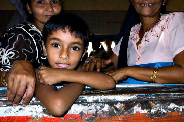 Happy Boy By The Car Window (Myanmar)