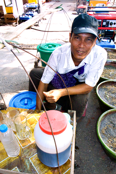 Hawker Selling Cold Drinks (Myanmar)