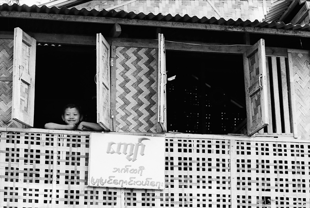 Smiling Boy By The Upstairs Window (Myanmar)
