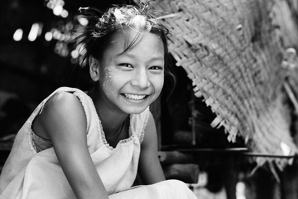 Girl Getting Bashful (Myanmar)