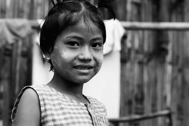 Girl Tying Her Hair Up @ Myanmar