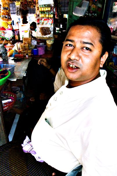 Man In A General Store @ Myanmar