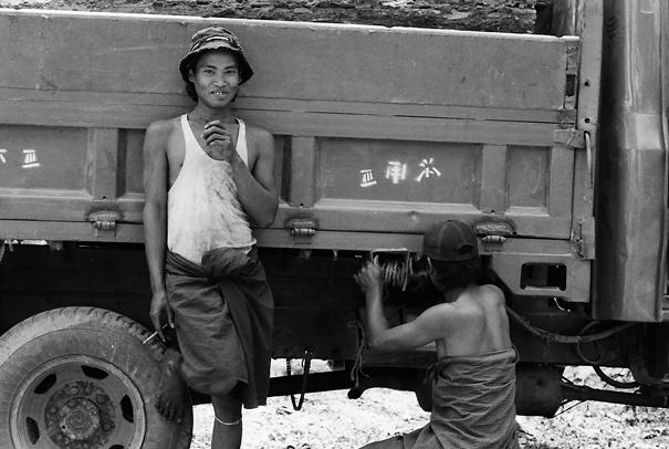 Men Near By A Truck @ Myanmar