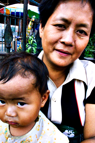 Grandmother And Baby @ Myanmar