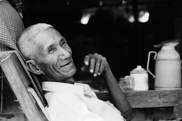 Old Man On The Wooden Chair (Myanmar)