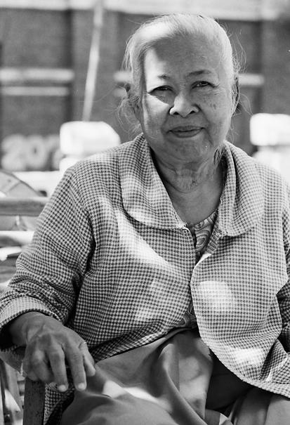 Smile Of A Relaxing Older Woman (Myanmar)