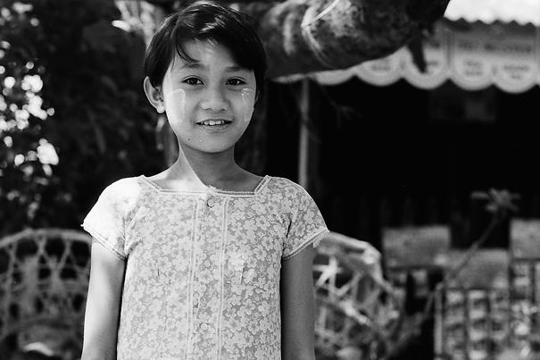 Girl Wearing A Floral Dress (Myanmar)