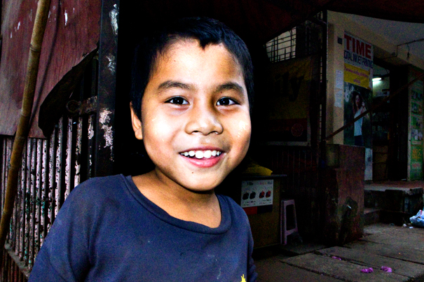 Smiling Boy In A Cafe (Myanmar)
