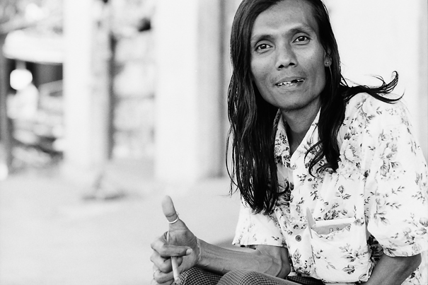 Thumb Up Of A Man With Long Hair (Myanmar)