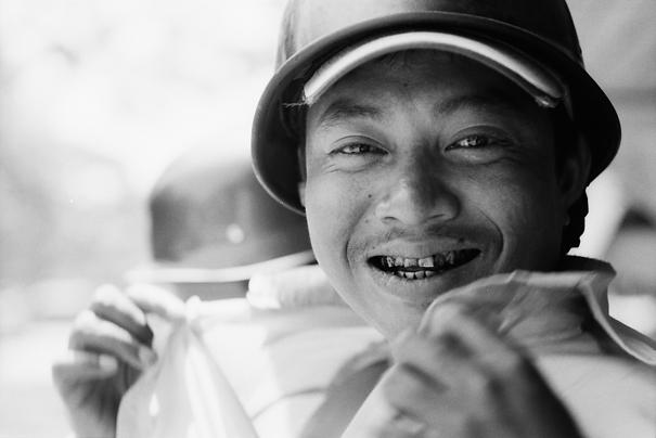 Man Grabbing Collar (Myanmar)