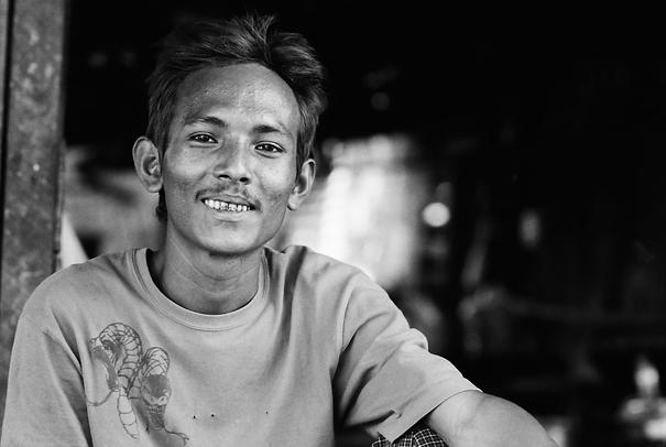 Man Wearing A Snake-printed T-shirt (Myanmar)