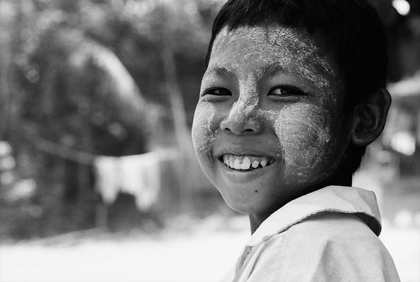White-faced Boy Smiled (Myanmar)