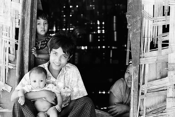 Family In Thanlyin @ Myanmar