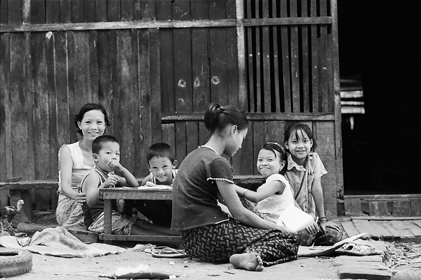 Mothers And Kids Around A Table (Myanmar)