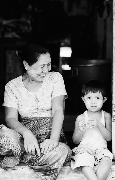 Grandma and boy