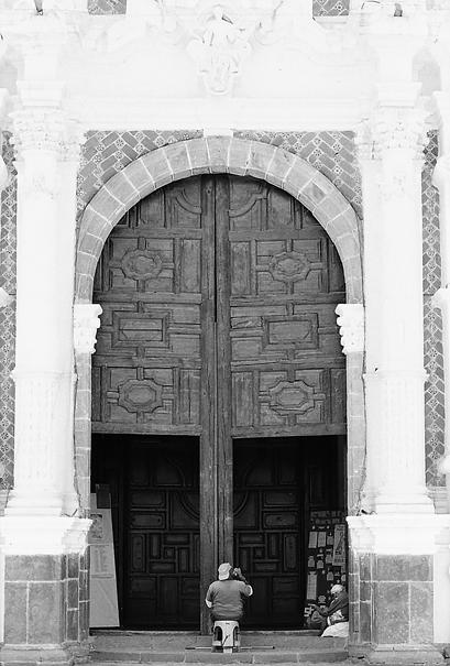 Entrance Of San José Parish Church (Mexico)