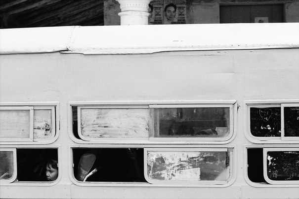 Window Of A Bus Were Opened (Mexico)