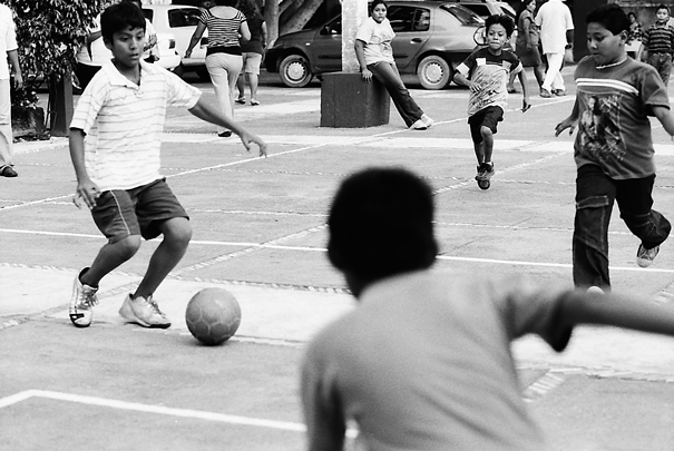 Boys Playing Football (Mexico)