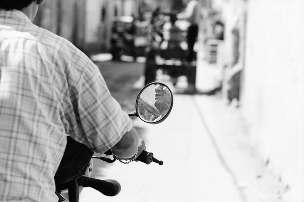 Mirror On The Motorbike