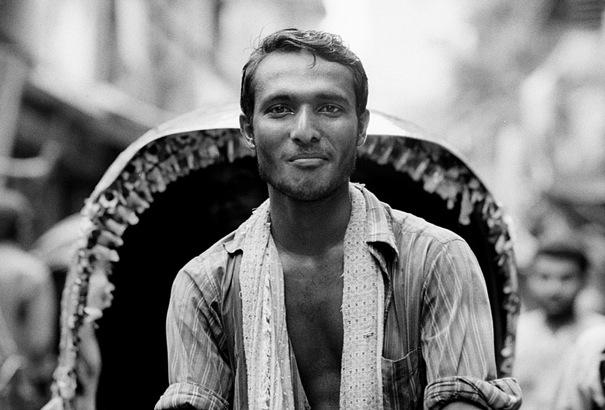 Rickshaw man on cycle rickshaw