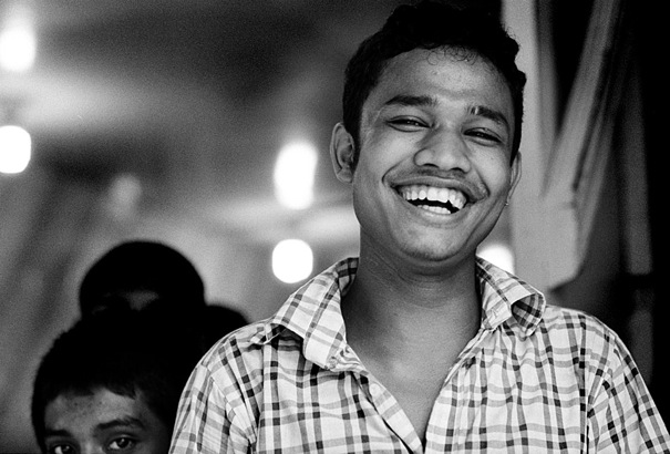 Man Laughed Widely (Bangladesh)