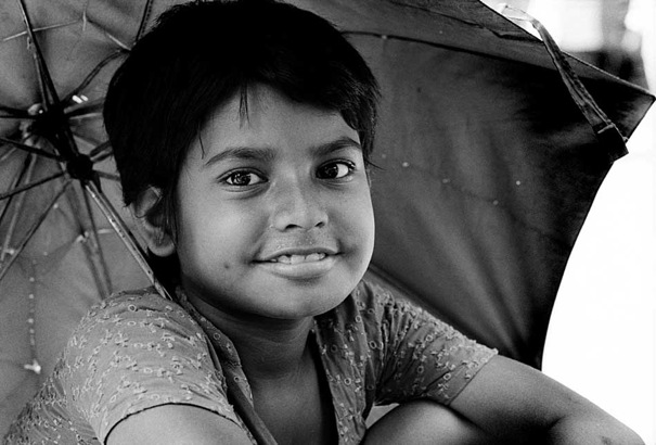 Cute Smile Under The Umbrella (Bangladesh)