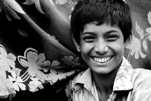 Boy Laughed Beisde A Cloth @ Bangladesh