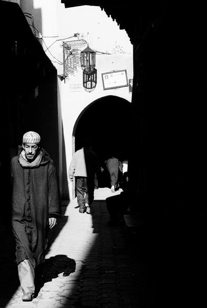 Man Wearing A Jellaba In The Sunlight (Morocco)