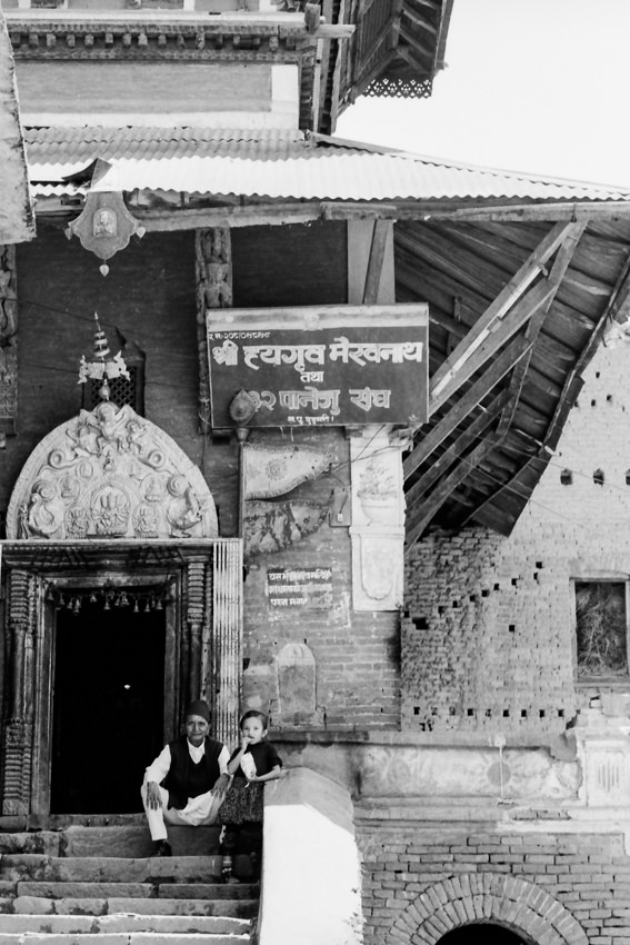 ヒンドゥー教寺院の入り口