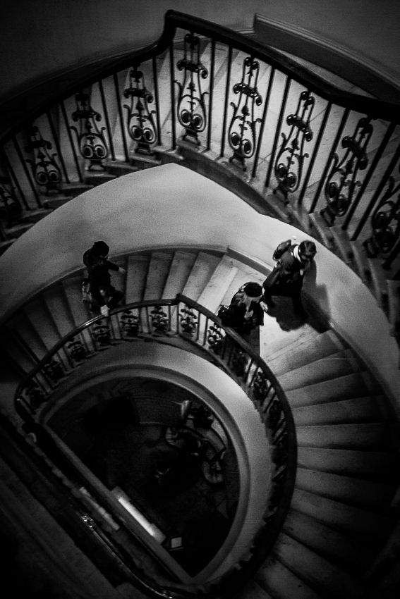 コートールド美術館の螺旋階段