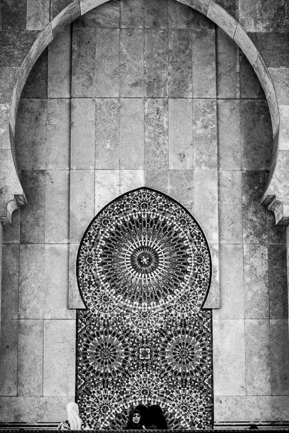 ハッサン2世モスクのアーチ