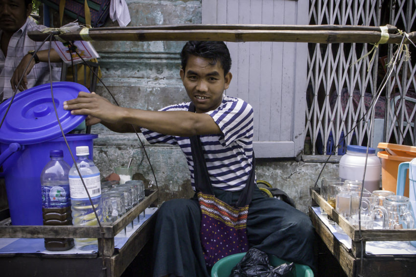 Man selling Juice