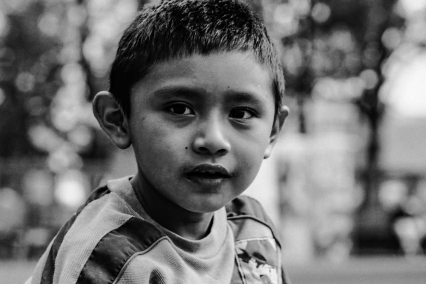 Moon-faced boy