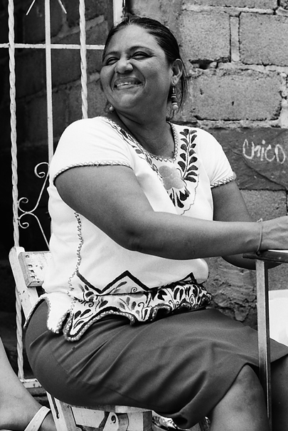 Huge Grin And Embroidery @ Mexico