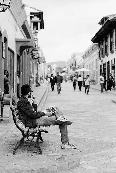 Bench In The Street @ Mexico