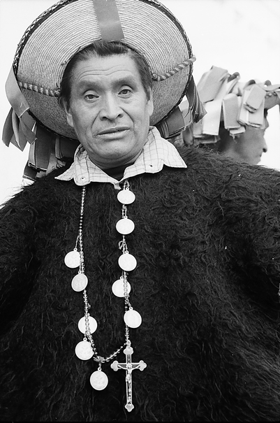 Man Wearing A Poncho-like Costume (Mexico)