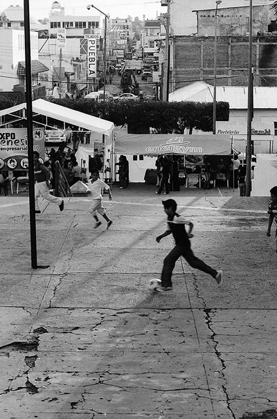 Football In The Small Square (Mexico)