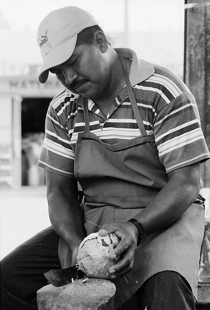 Man Cut Coconut (Mexico)