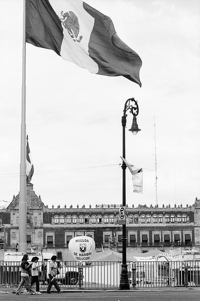 Big Mexican Flag In The Zocalo (Mexico)