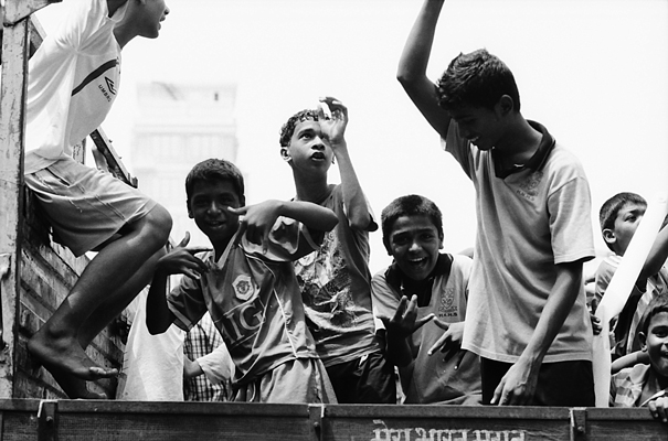 Boys On The Luggage Carrier @ India