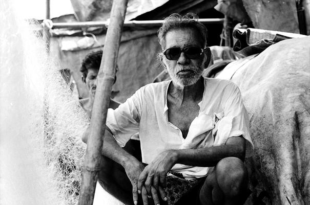 Fisherman wearing sunglasses