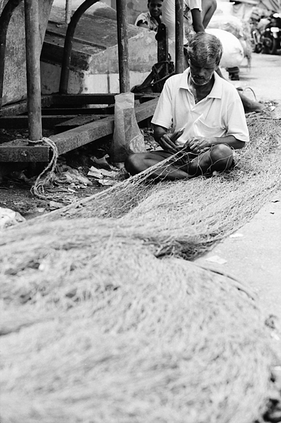 Fishing Net On The Ground (India)