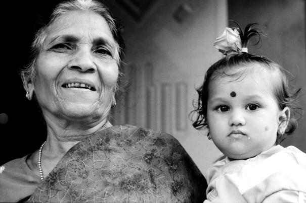 Grandma And Baby @ India