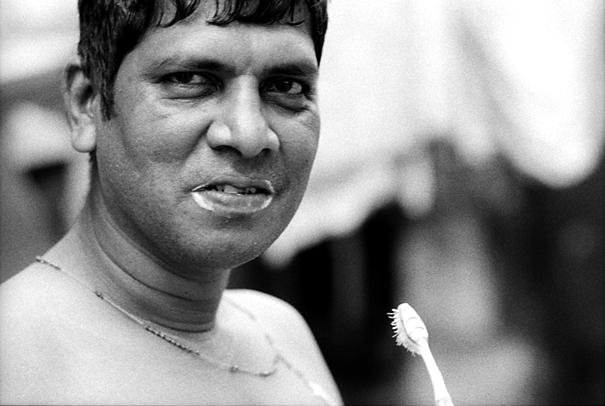 Man Brushing His Teeth (India)