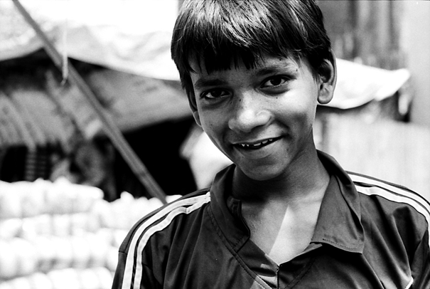 Boy Couldn't Help Smiling With Pleasure (India)