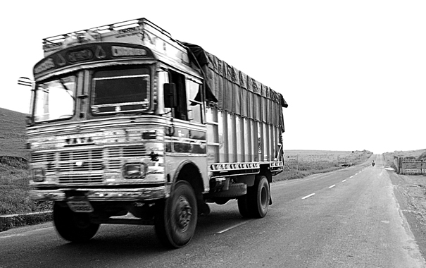 Truck On The Straight Road (India)