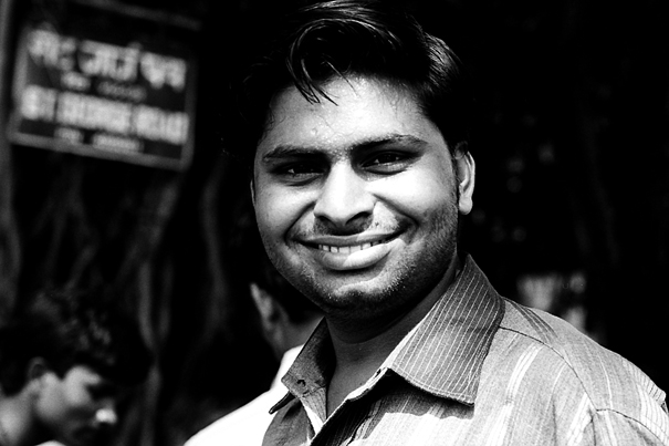 Smile Of A Stubble-faced Man (India)