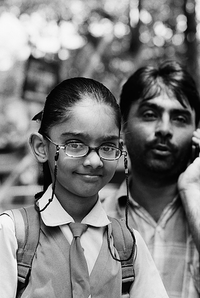 Bright-faced School Girl Wearing Glasses (India)